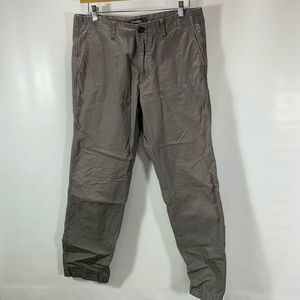 Eddie Bauer Pants Gray Cotton Chino Flat Zip Fly